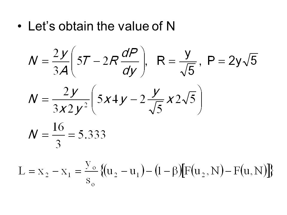 Let's obtain the value of N