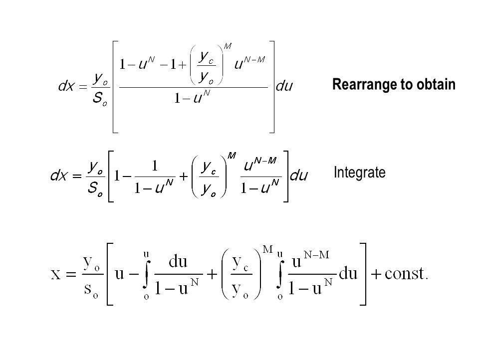 Integrate Rearrange to obtain