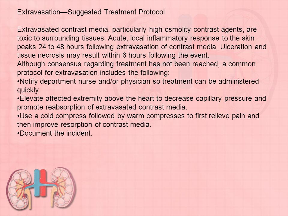 Extravasation—Suggested Treatment Protocol