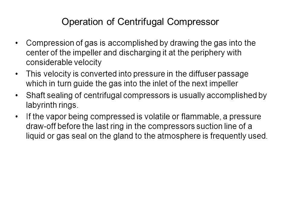 Operation of Centrifugal Compressor