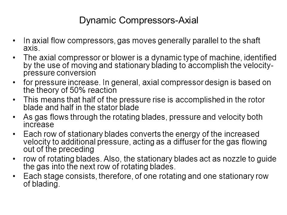 Dynamic Compressors-Axial