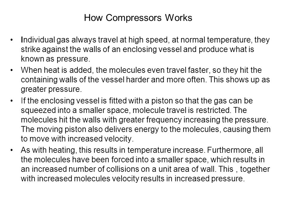 How Compressors Works