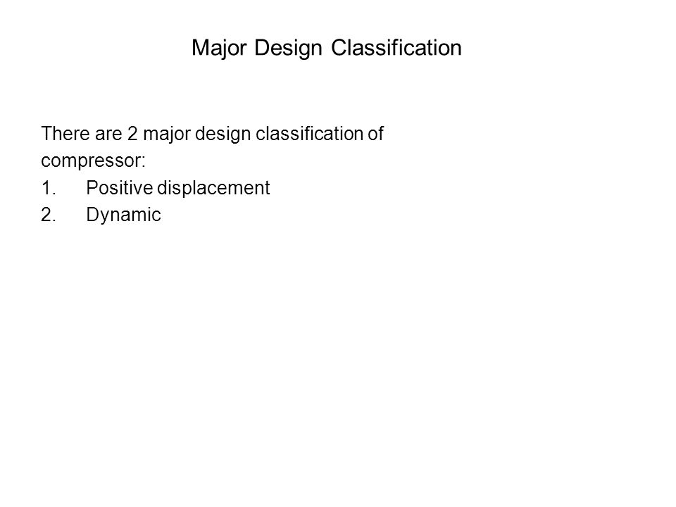 Major Design Classification