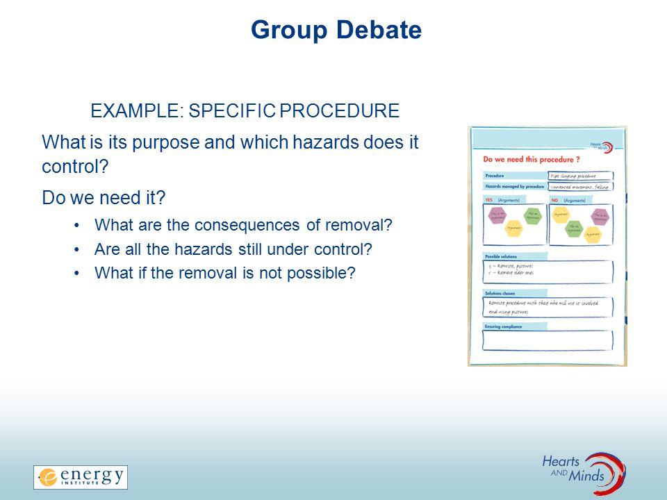 EXAMPLE: SPECIFIC PROCEDURE