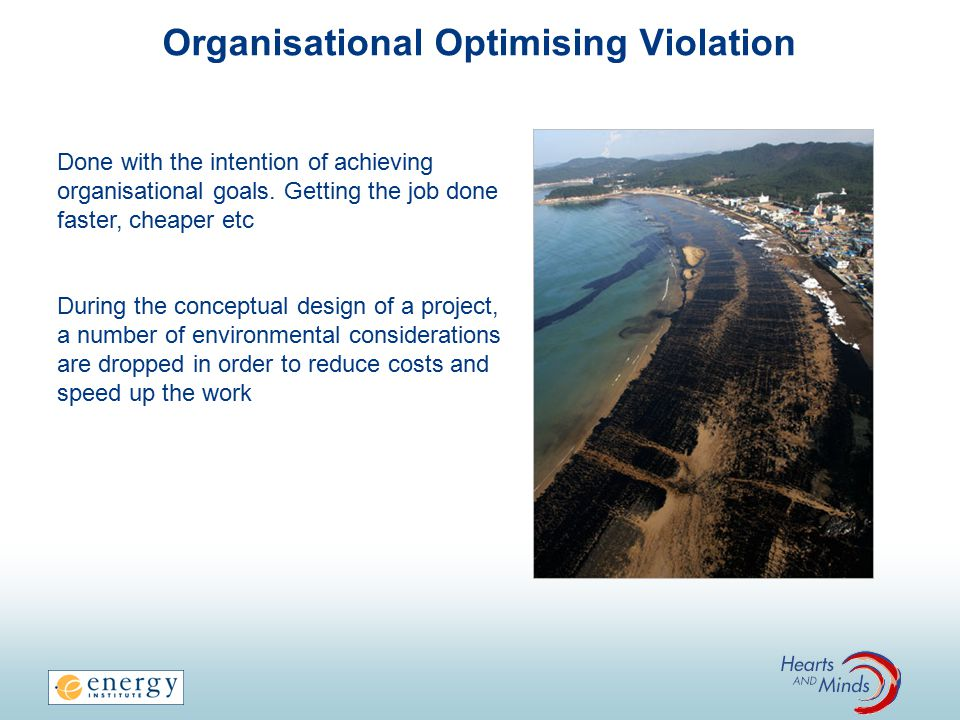Organisational Optimising Violation