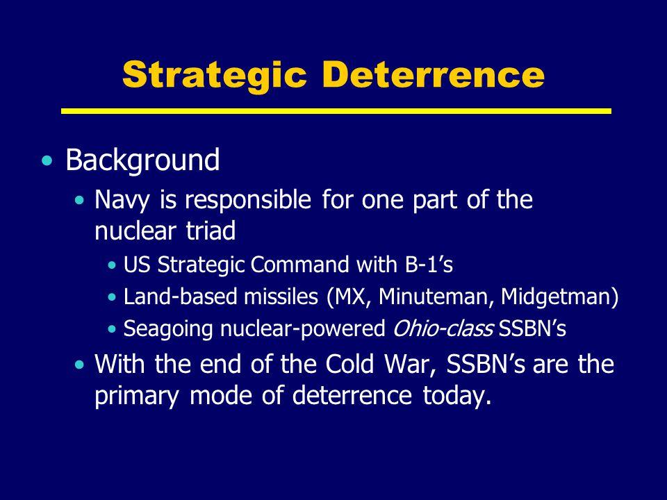 Strategic Deterrence Background