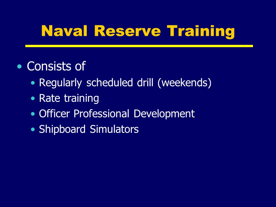 Naval Reserve Training