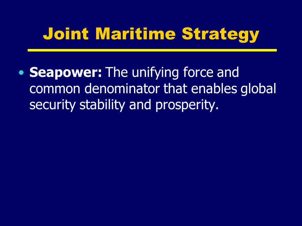 Joint Maritime Strategy