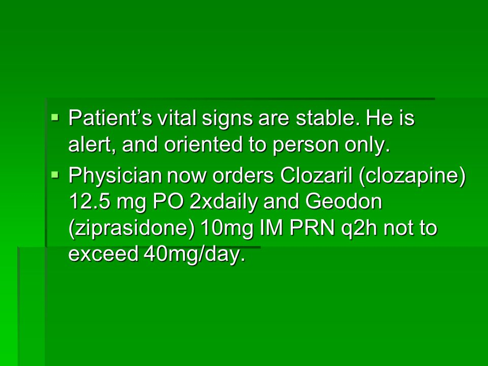 Patient's vital signs are stable