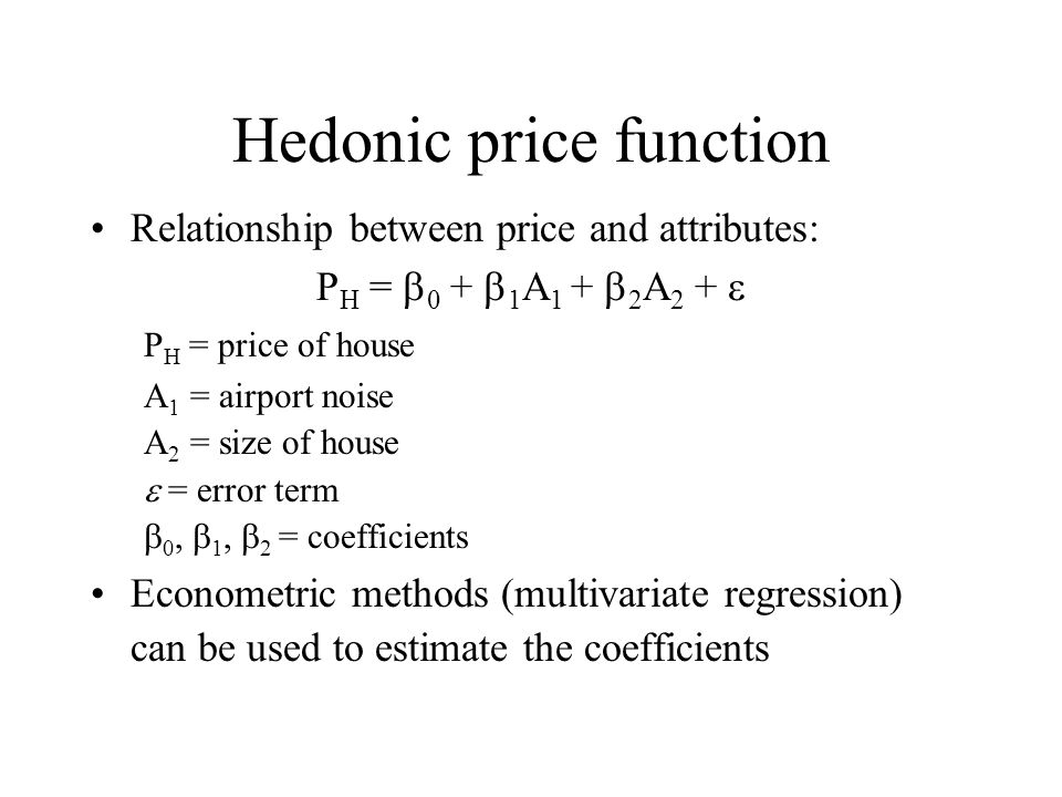 Hedonic price function
