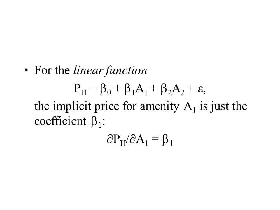 For the linear function