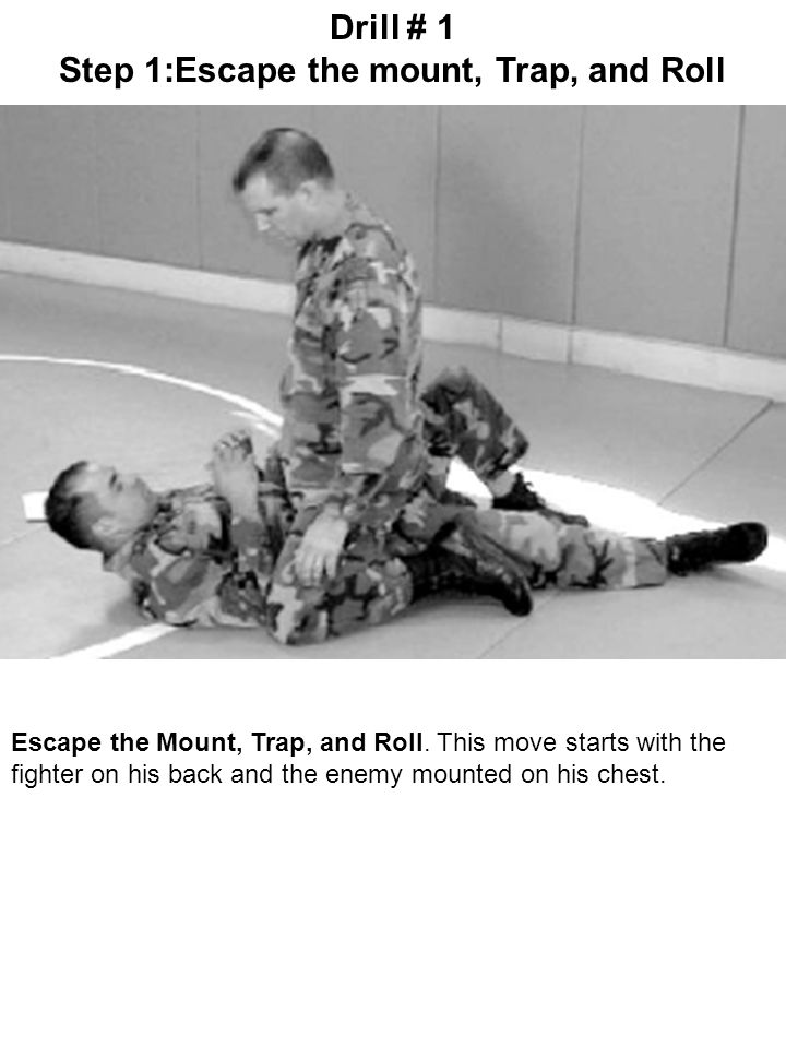 Step 1:Escape the mount, Trap, and Roll