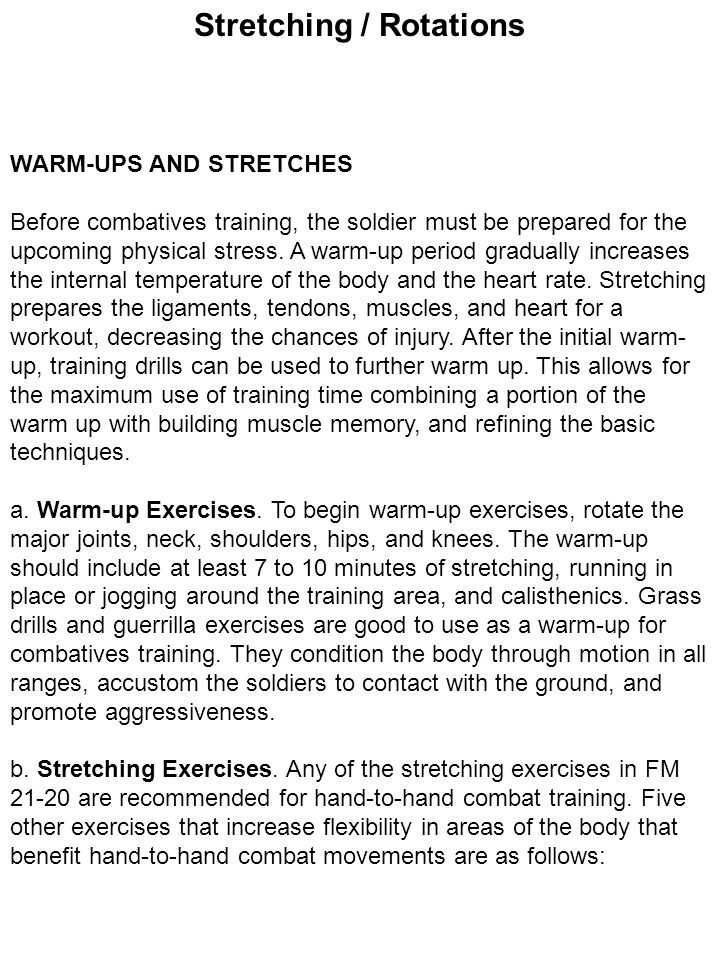 Stretching / Rotations