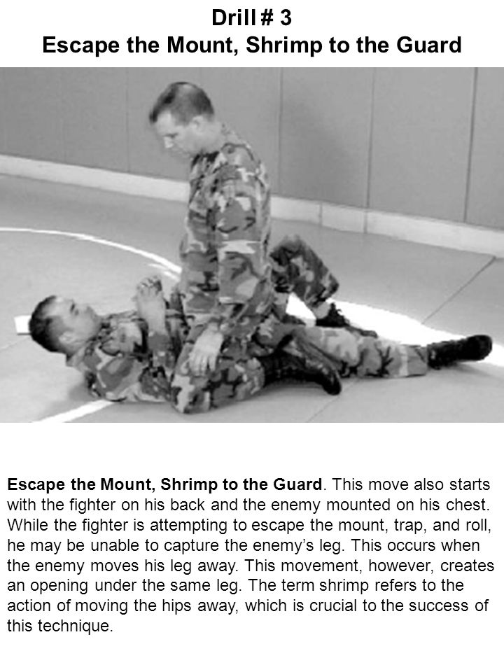Escape the Mount, Shrimp to the Guard