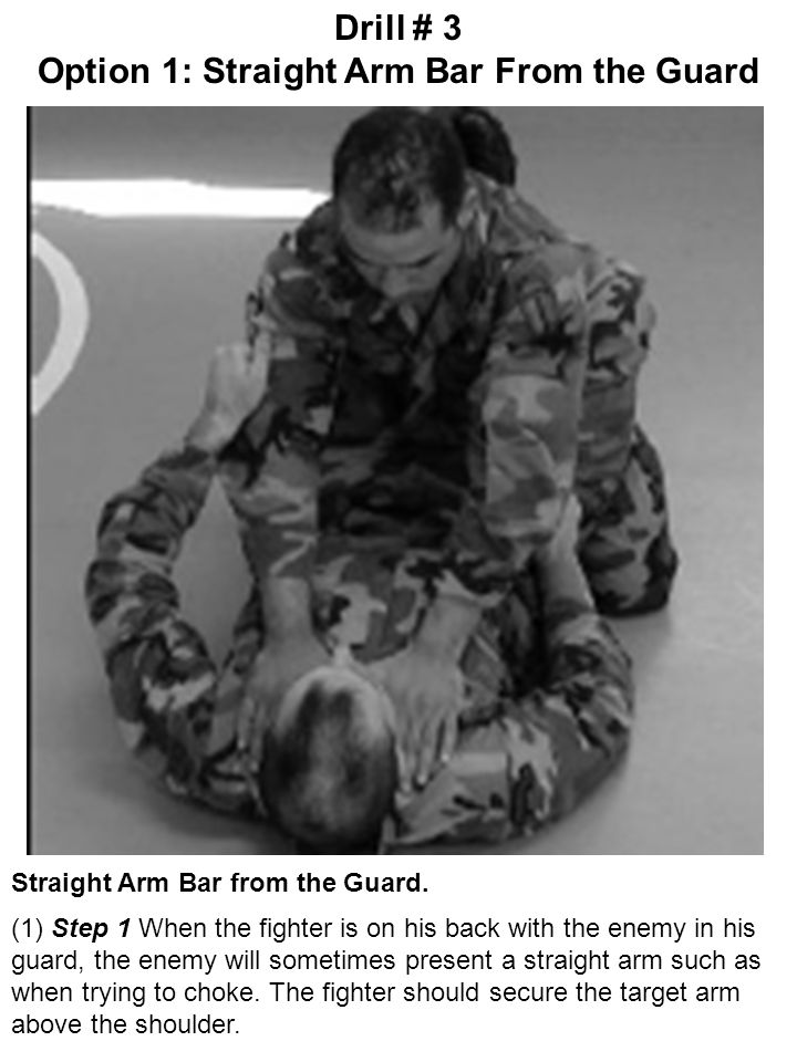 Option 1: Straight Arm Bar From the Guard