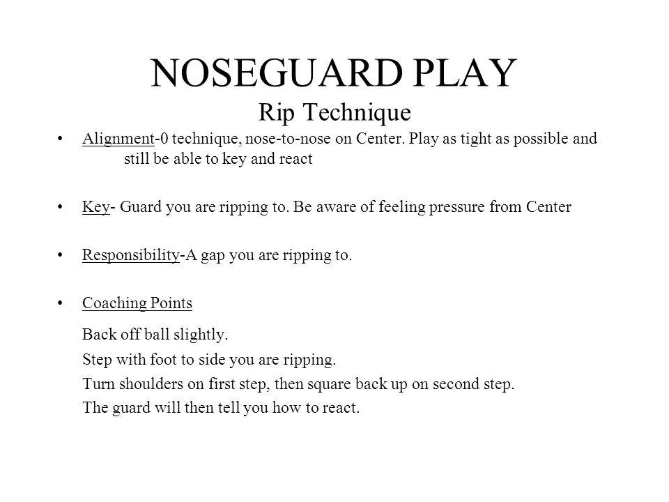 NOSEGUARD PLAY Rip Technique
