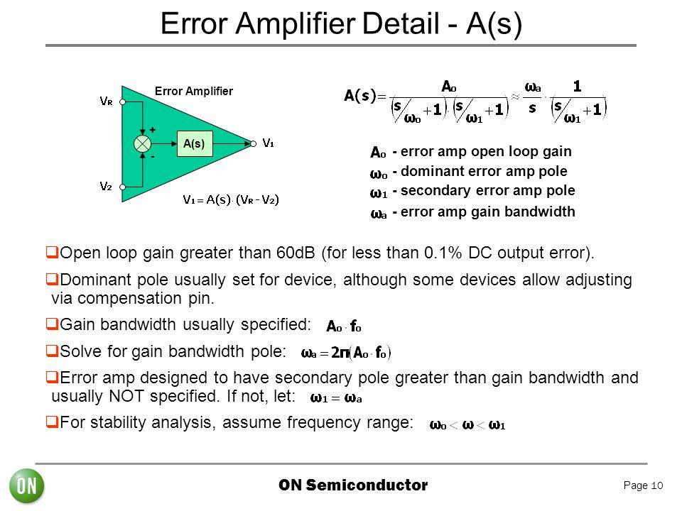 Error Amplifier Detail - A(s)