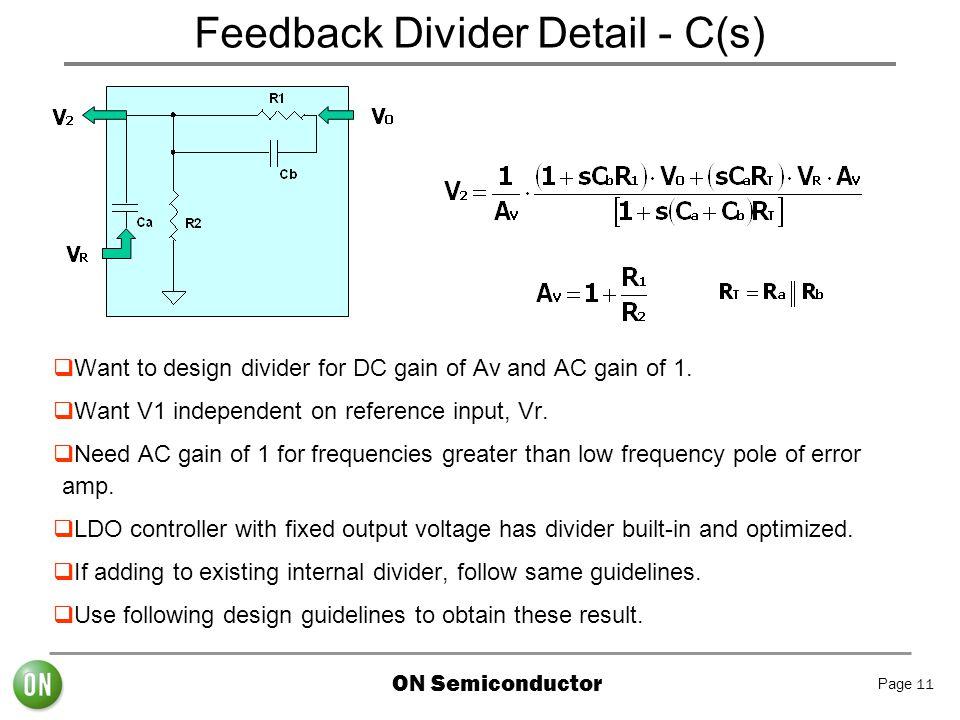 Feedback Divider Detail - C(s)