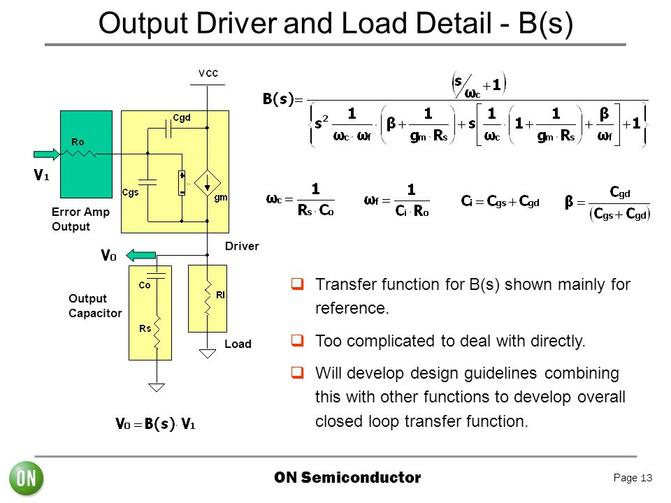 Output Driver and Load Detail - B(s)