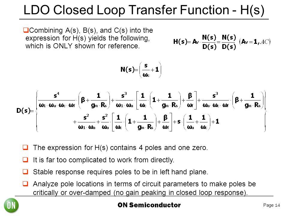 LDO Closed Loop Transfer Function - H(s)