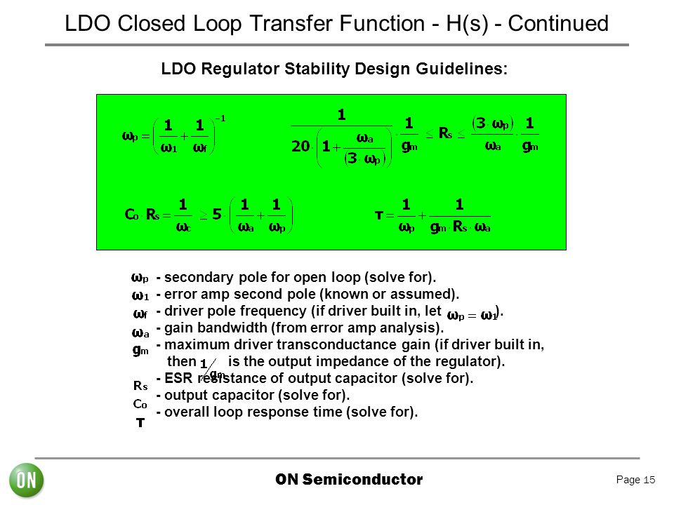 LDO Closed Loop Transfer Function - H(s) - Continued