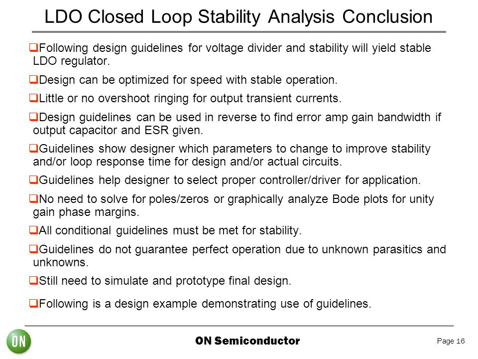 LDO Closed Loop Stability Analysis Conclusion