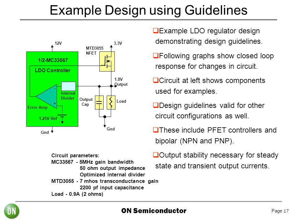 Example Design using Guidelines