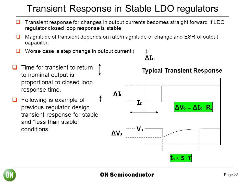 Transient Response in Stable LDO regulators