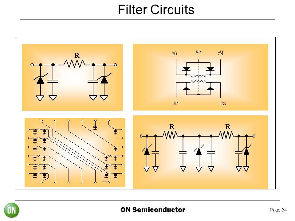 Filter Circuits #1 #3 #6 #5 #4 R R R