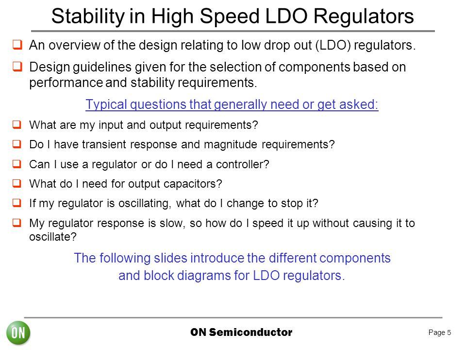 Stability in High Speed LDO Regulators