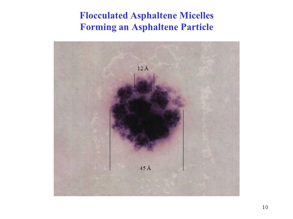 Flocculated Asphaltene Micelles Forming an Asphaltene Particle