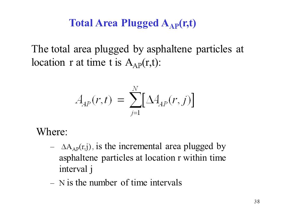 Total Area Plugged AAP(r,t)