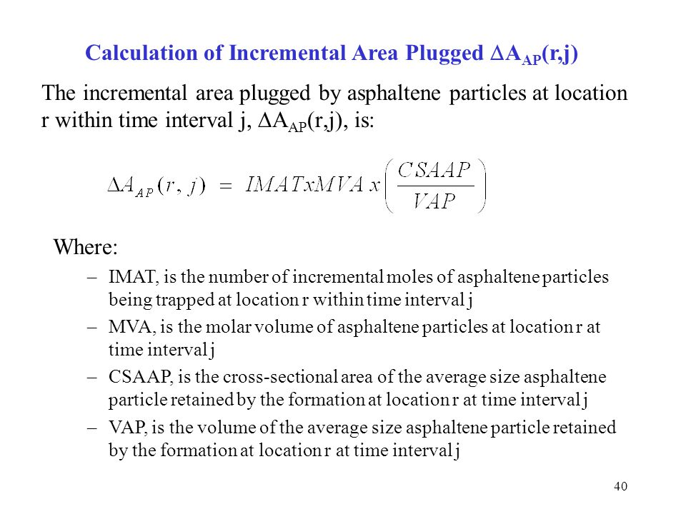 Calculation of Incremental Area Plugged DAAP(r,j)