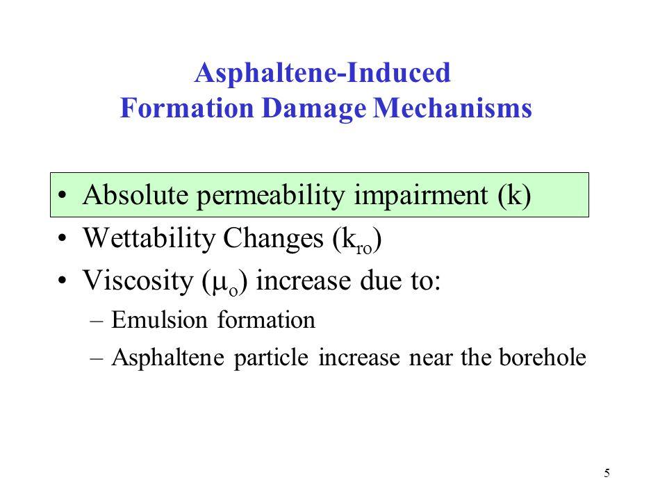 Asphaltene-Induced Formation Damage Mechanisms