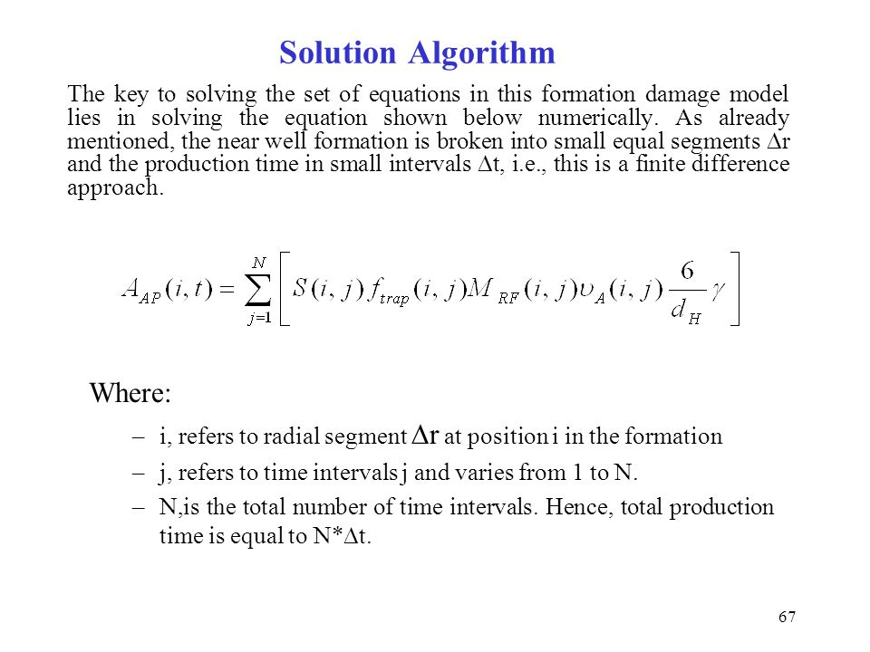Solution Algorithm Where: