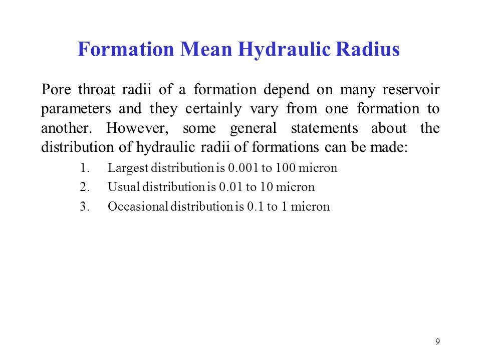 Formation Mean Hydraulic Radius