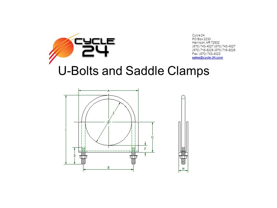 U-Bolts and Saddle Clamps