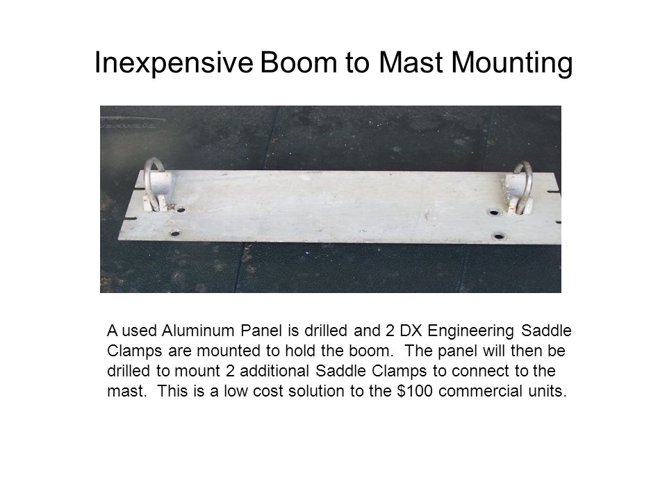 Inexpensive Boom to Mast Mounting