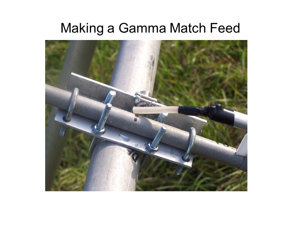 Making a Gamma Match Feed