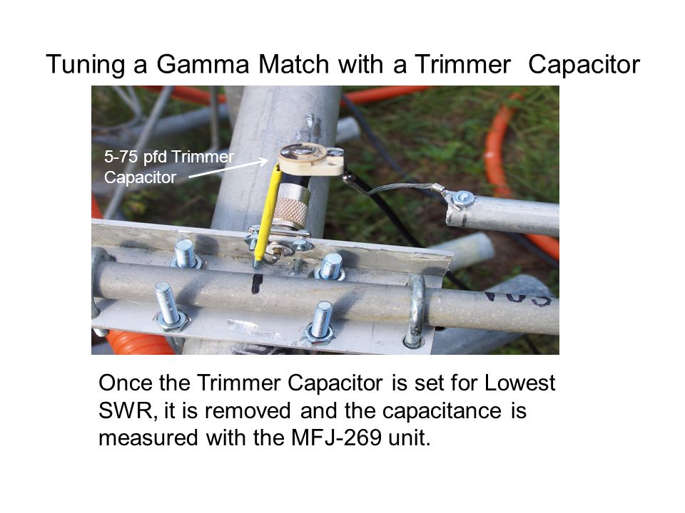 Tuning a Gamma Match with a Trimmer Capacitor