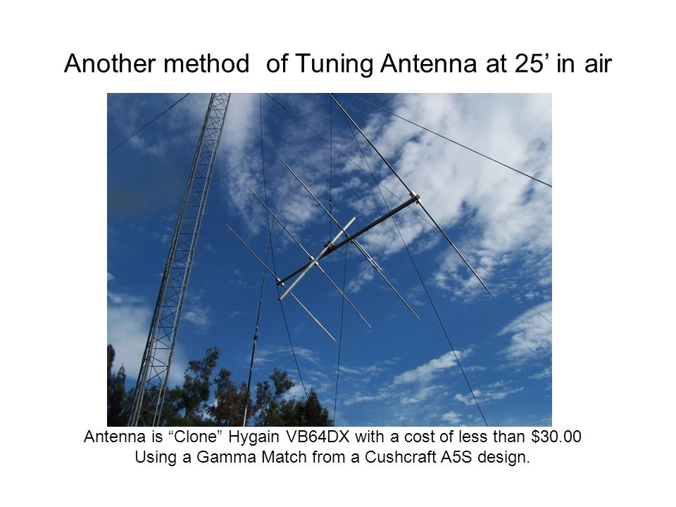 Another method of Tuning Antenna at 25' in air