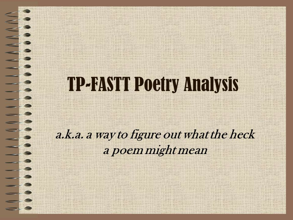 TP-FASTT Poetry Analysis
