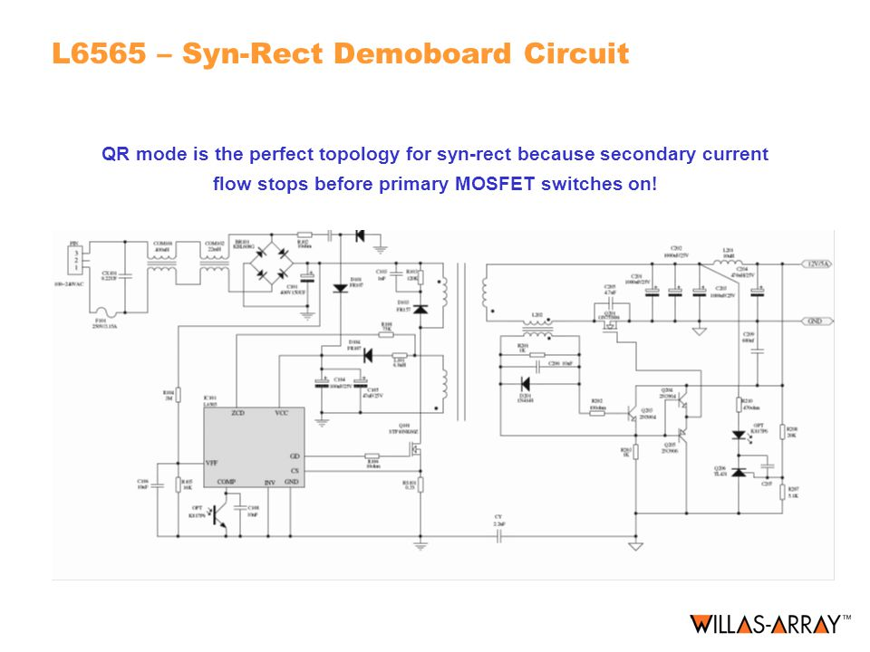 L6565 – Syn-Rect Demoboard Circuit