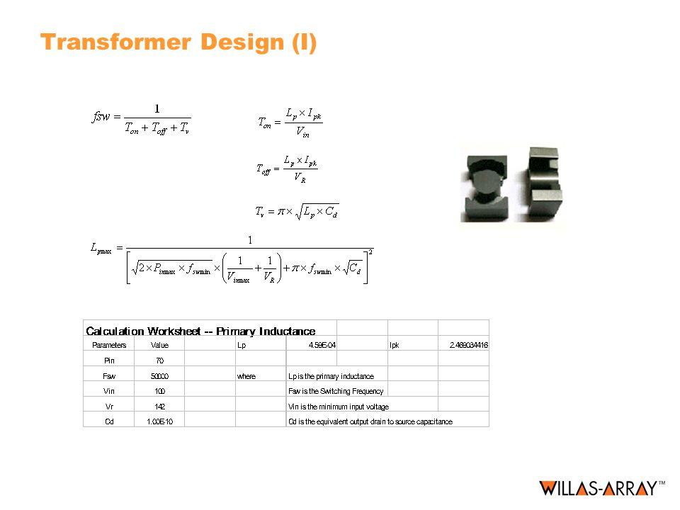 Transformer Design (I)