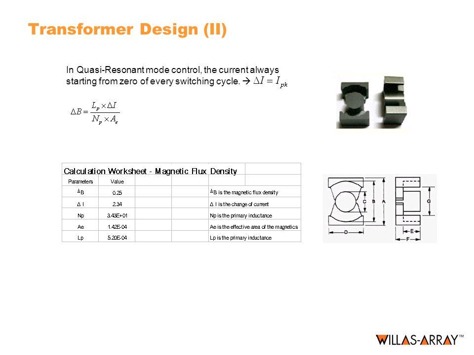 Transformer Design (II)