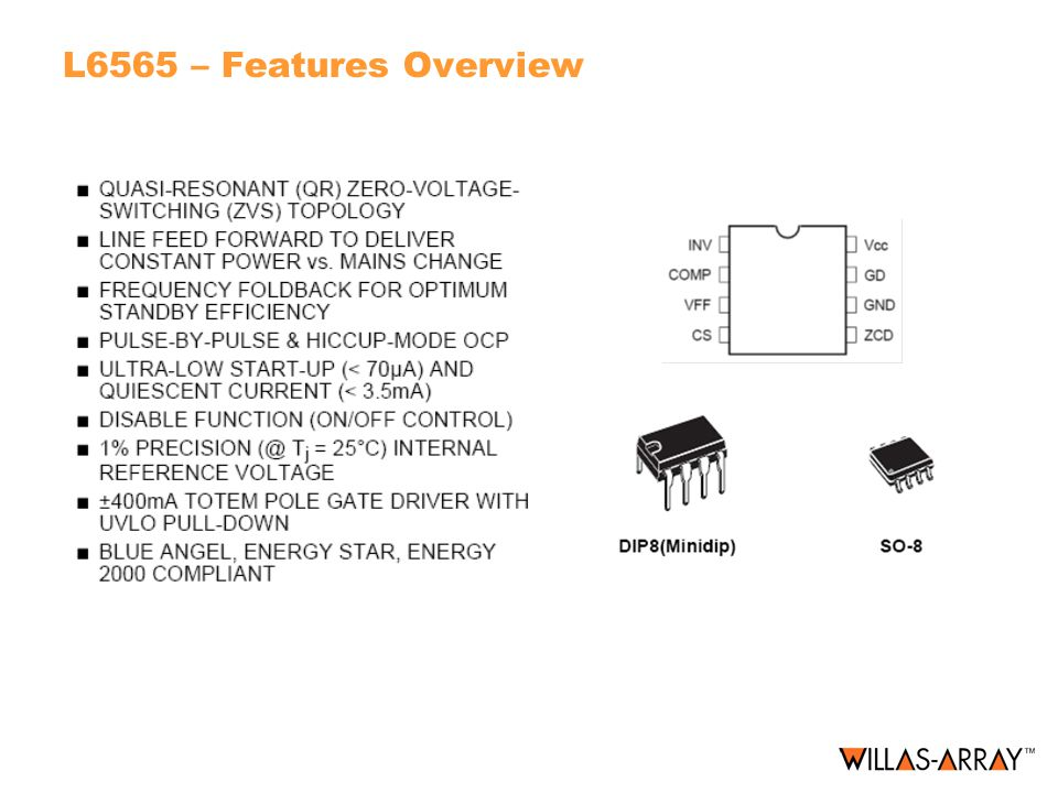 L6565 – Features Overview