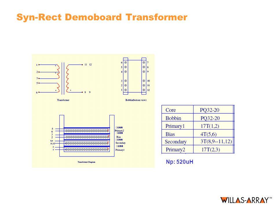 Syn-Rect Demoboard Transformer