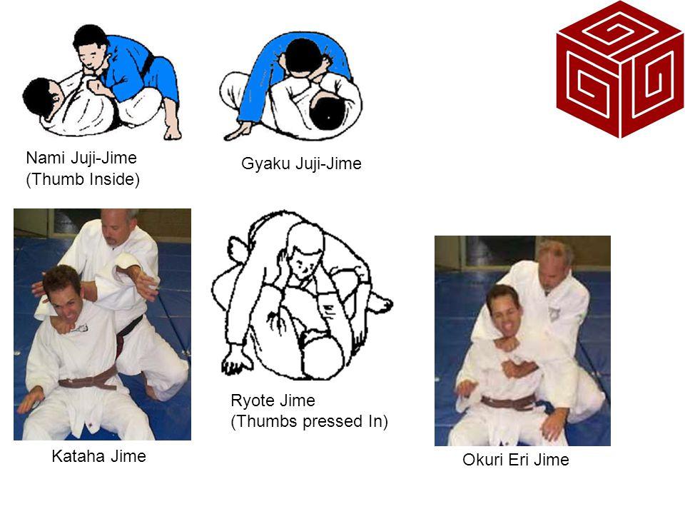 Nami Juji-Jime Gyaku Juji-Jime. (Thumb Inside) Ryote Jime.