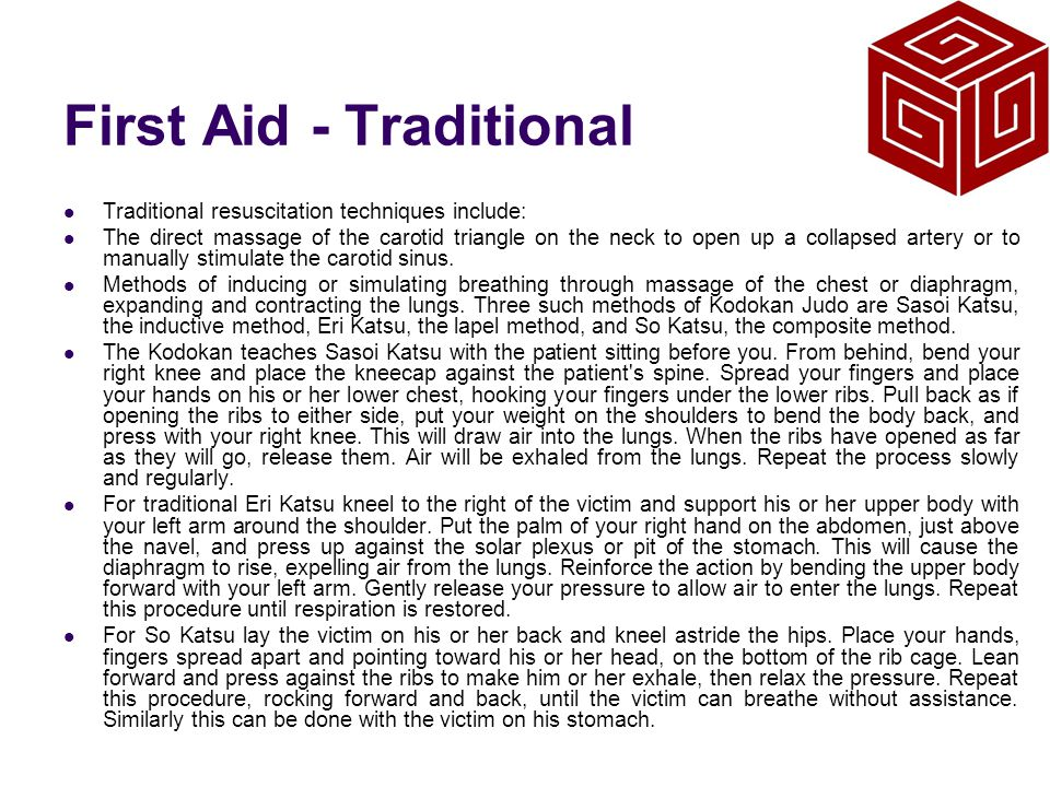 First Aid - Traditional