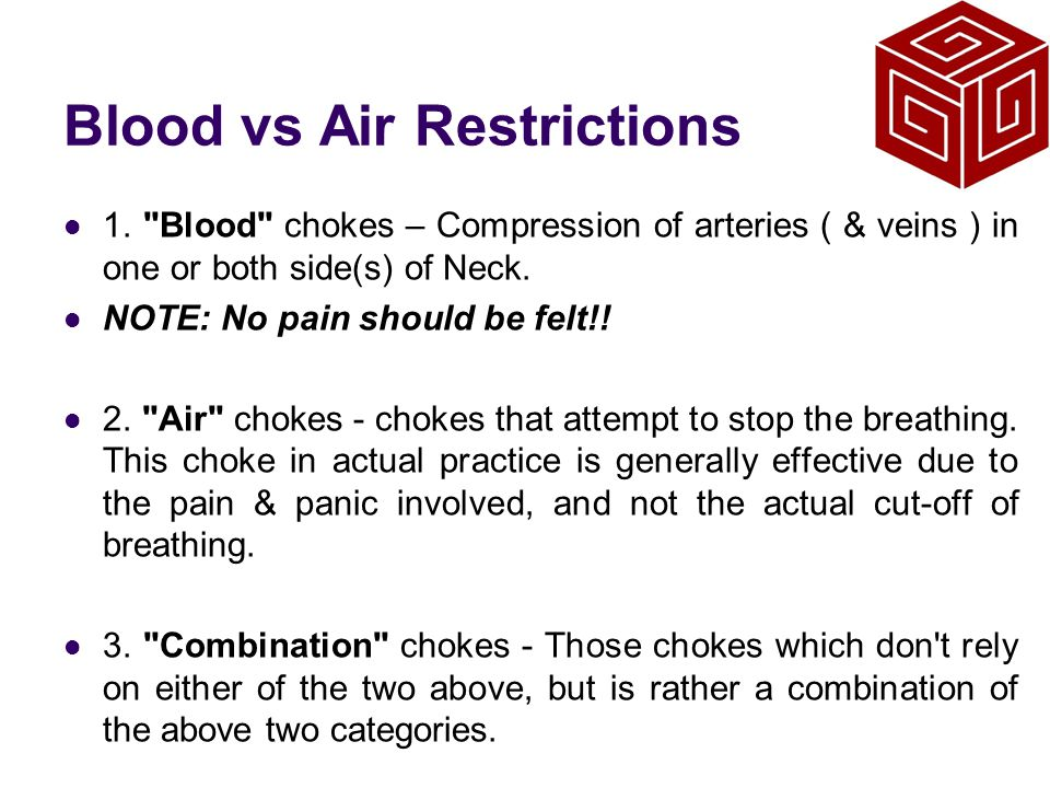 Blood vs Air Restrictions
